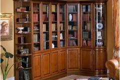 Библиотека угловая. Фасады из шпона.