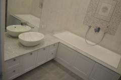 тумба для ванной комнаты со столешницей из натурального камня