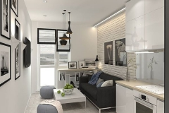 Кухня из белого глянца