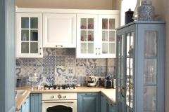 Кухня в стиле Прованс с фасадами в плёнке МДФ