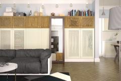 Шкафы для гостинной. Фасады из массива