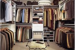 Варианты заполнения гардеробных комнат