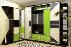 Угловой шкаф с распашными, комбинированными фасадами