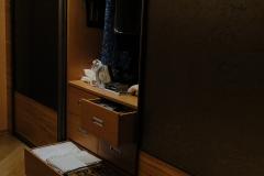 Внутреннее наполнение встроенного шкафа Выдвижные ящики полного выдвижения