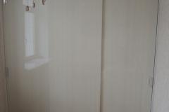 Шкаф купе встроенный в простенок. Двери без профильные из влагостойкого лдсп . Нижнеопорная система направляющих