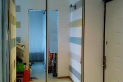 зеркальный, встроенный шкаф купе