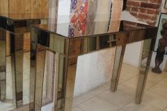Зеркальная консоль без ящиков